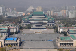 Grand People's Study House and Kim Il Sung Square.